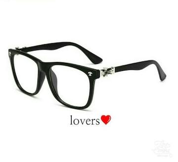 送料無料マットブラック黒シルバークロス十字架メガネめがね眼鏡