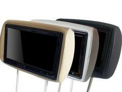 10.1インチヘッドレストモニター(レザー・左右)ブラック