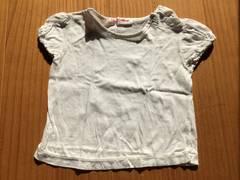 Fruits House☆白いTシャツ☆パフスリーブ☆サイズ90☆日本製