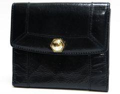 正規品 本物 BALLY バリー Wフォック財布 レザー 黒