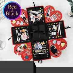 サプライズボックス 寄せ書き スクラップブック 赤×黒 F/B2Y