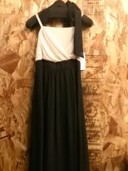 新品☆7号ホルターリボン付マキシ丈のキレイなパーティワンピ♪☆r325