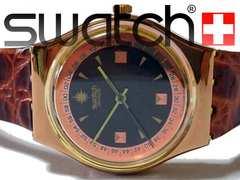 良品 1スタ★スウォッチ/Swatch【スイス製】電池交換済 腕時計