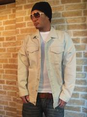 大幅値下げ【マスターピース】ベーシックデニムジャケットオフホワイトM♪卍ラインナイトレイド