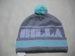 wb123 女 BILLABONG ビラボン ボンボン付き ニット帽 グレー