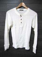 □SIMPLICITE/シンプリシティエ ヘンリー 長袖 サーマル Tシャツ/メンズ38(S)