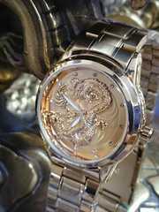 ゴールド 腕時計 竜 レターパック