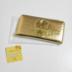 ハローキティキティ金運ゴールドの長財布(長ウォレット)新品SANRIO