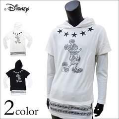 Disney ミッキーマウス ロンTパーカー 白 L[6173-7552]