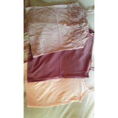 新品 キャミ3点セット ピンク系 パッド入あり L 綿100%
