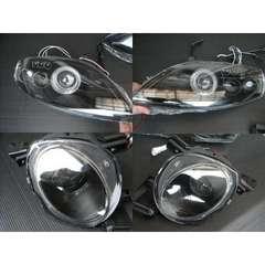 トヨタ LEDポジション&イカリング付 プロジェクターヘッドライト  インナーブラック ソアラ30系