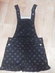 シャーリーテンプルオーバースカート120サイズ黒に水玉可愛