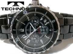 良品 1スタ★TECHNOS【クロノグラフ】J12のようなメンズ腕時計