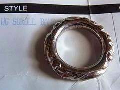 クロムハーツ18k金リング指輪10号ホワイトゴールドWG原本