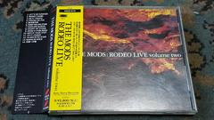 THE MODS(モッズ) RODEO LIVE volume two BEST TAKE LIVE 帯付き