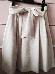 レッセパッセ ウエストリボンスカート ピンク 美品