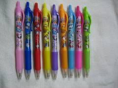 ディズニーツムツム ノック式カラーゲルペン 9色セット ボールペン