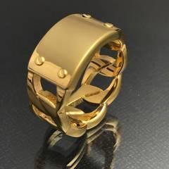 《R106/15号》『重厚ゴールドリング』サージカルステンレス316L