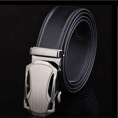 オートロック式 本革高級ベルト 110cm〜120cm 長さ選択 T