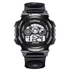 残1点590円★超人気デジタル腕時計 スポーツウォッチ 黒大