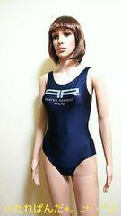 美品☆arena☆メタリックロゴの格好いい競泳水着1964☆3点で即落