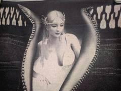 即決!個性的!七部丈 リアルデニム&女神柄 レギンス 未使用 スパッツ パンツ