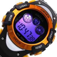 """輸入時計★SUNTO好きに♪7つの機能メンズ腕時計""""OHSEN""""黄"""