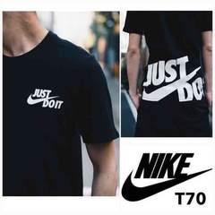 T70M■新品★ナイキ アトモス 別注 JDI JUST DO IT Tシャツ 黒M
