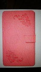 ドコモタブレット高級PUケースdー 02H ピンク系