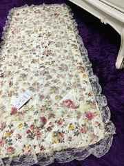 新品Roseフラワー&レースキッチンマット 薔薇 カントリー 123cm