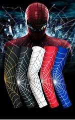 XLサイズ ブラック ゴールド アームスリーブ 蜘蛛 二枚 セット