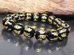 守り本尊十二支梵字オニキス10ミリ数珠