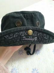 黒帽子 ハット 日よけ 美品 52センチ テンガロン