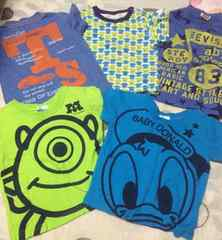 Tシャツ5点セット*ディズニー*ドナルド*トミカ*ユニクロ