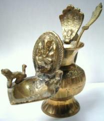 ☆即決☆真鍮製 ガネーシャのオイルランプ