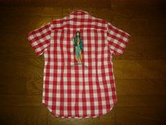 wackomariaワコマリアマリアステッチチェックシャツS赤白