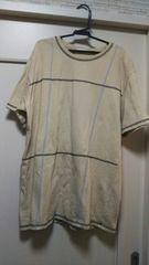 レモーレL メンズ大きめ半袖Tシャツカットソーチェック柄