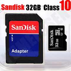 即決 SDアダプタ付 Class10 SANDISK 32GB microSDHC マイクロSD クラス10