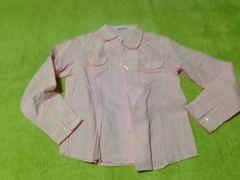 ピンクのチェックシャツ☆