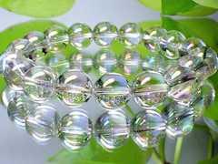 ホワイトアクアオーラ水晶10ミリ数珠