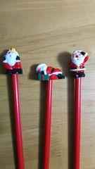 FELISSIMO フェリシモ サンタブック 「クリスマス・ミュージアム」 サンタクロース 鉛筆 3本組A