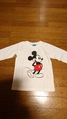 新品最新ッ★男女OK♪Disny /ミッキーマウス★シンプル可愛ィィ★ロングTシャツ120