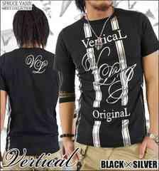 メール便送料無料【VERTICAL】Tシャツ70622新品黒銀XL