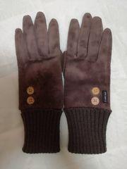 コムサモノコムサ冬用グローブ手袋ブラウンレディース