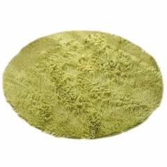 ラグ 丸いカーペット 円形マット グリーン100cm