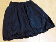 新品同様 ベアトリス/BEATRICE ウエストリボン膝丈スカート(黒)