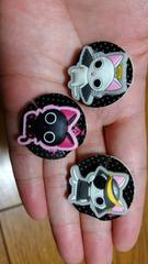 新品★ネコ猫にゃんこ!黒猫「にゃんぱいあ」ペッタン�B種セット