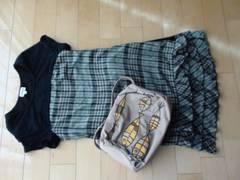 ホコ可愛いワンピ+アンダースカート