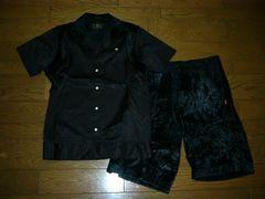 WTAPSダブルタップス半袖セットアップ黒Sシャツショーツファー