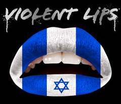 4g1)ViolentLipsバイオレントリップスイスラエル国旗タトゥーシールB系口紅青白マリン
